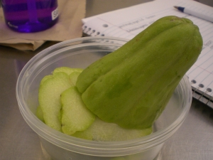 Chayote squash, I need to cook this.  This weekend.