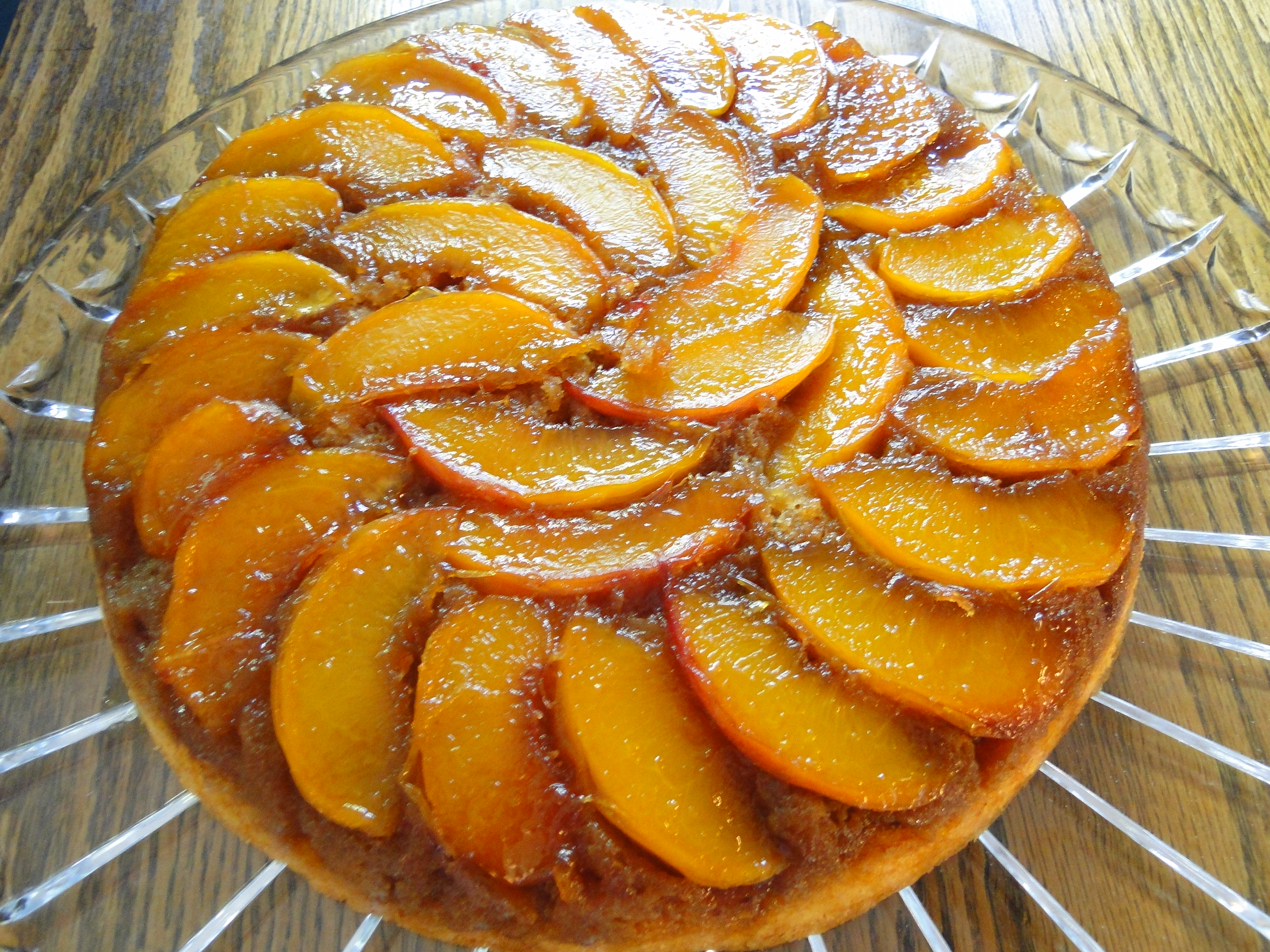 Peach Upside Down Cake Recipe Along With Peach Upside Down Cake ...