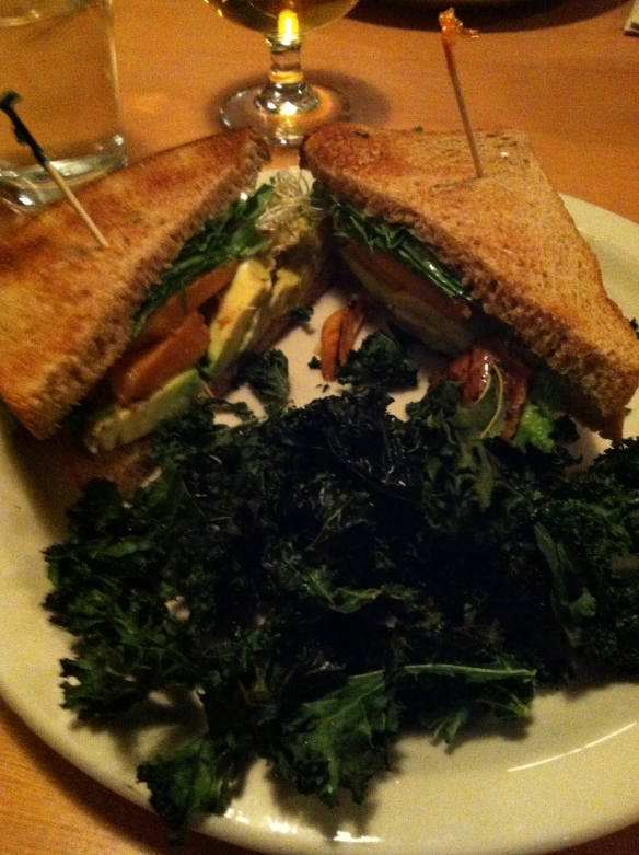Sweet potato and goat cheese sandwich at Under The Sun Restaurant.